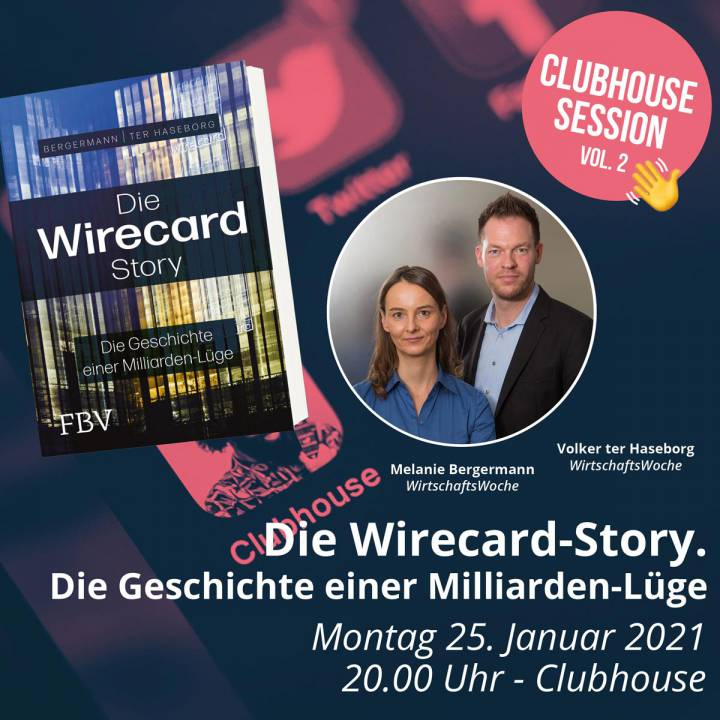 Clubhouse Session Wirecard Volker ter Haseborg Melanie Bergermann